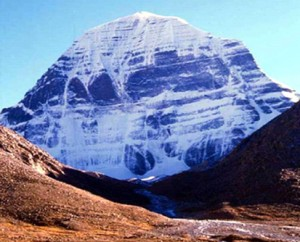 Mount Kailash Showing the Flow of Snow and Ice